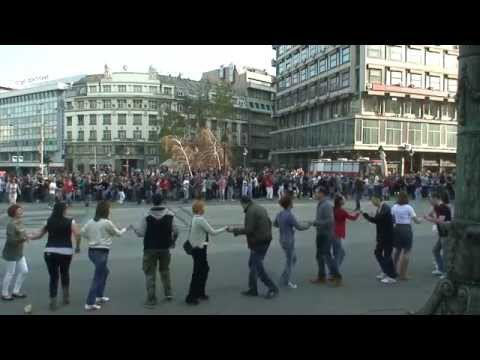Flash mob rueda de casino Belgrade 29. 03. 2014.