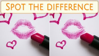 [ Brain games ] ( 3 ) Ep.019 Things_cosmetic_lipstick_01 | Spot the difference | photo puzzles