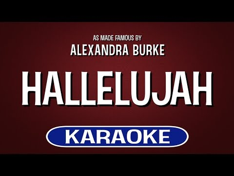 Hallelujah Karaoke Version by Alexandra Burke