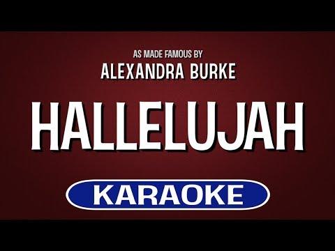 Hallelujah Karaoke Version by Alexandra Burke