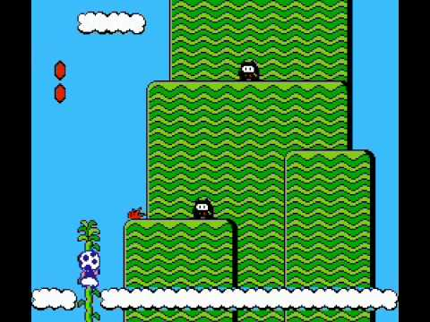 Super Mario Bros 2 - How to beat first Birdo with a vegetable