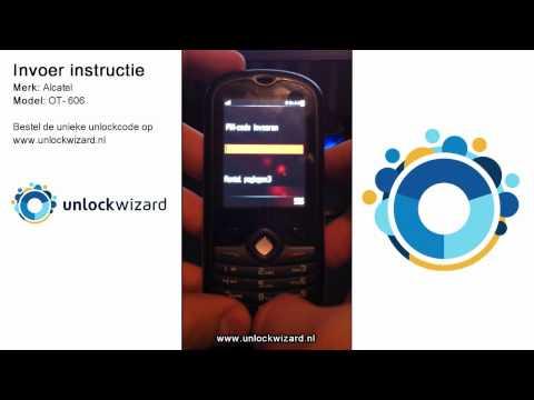 Alcatel OT-606 Simlock vrij maken Unlocken