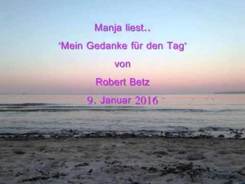 Manja Liestmein Gedanke Für Den Tag Von Robert Betz 9januar 2016
