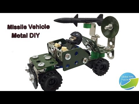 Metal Field Army DIY, Missile Vehicle Assembly video for kids