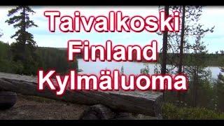 Taivalkoski Finland Hukanharjunpolku nature trail 30.6.2014 Naturlehrpfad