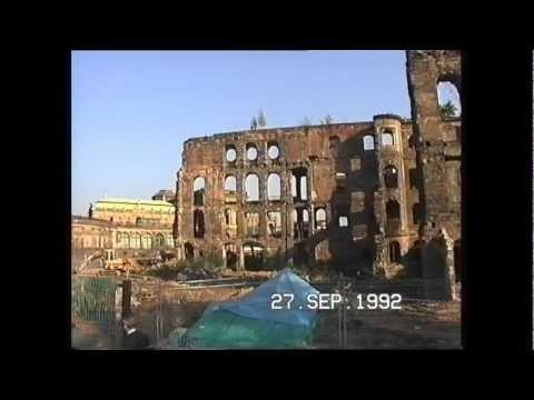 Dresden ~ Anfang der 90´ iger ~ zerstörtes Taschenbergpalais vor dem Wiederaufbau