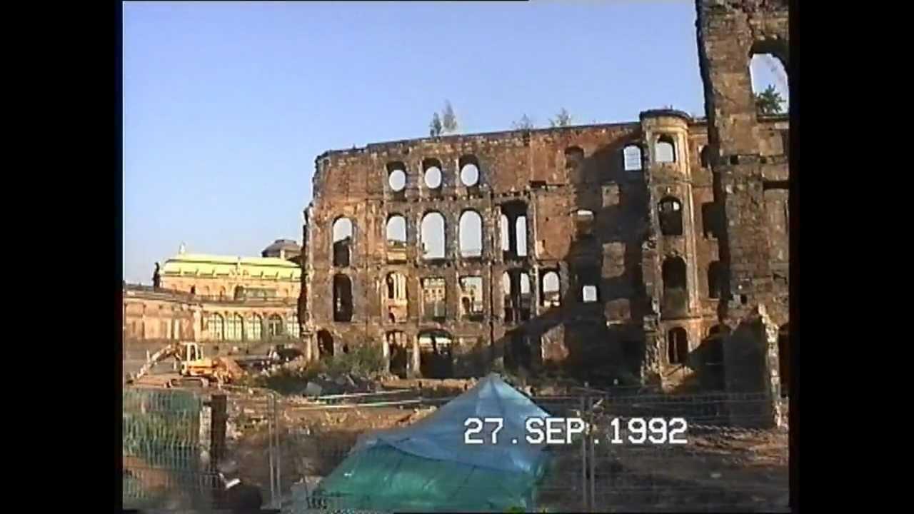 dresden anfang der 90 iger zerst rtes taschenbergpalais vor dem wiederaufbau youtube. Black Bedroom Furniture Sets. Home Design Ideas