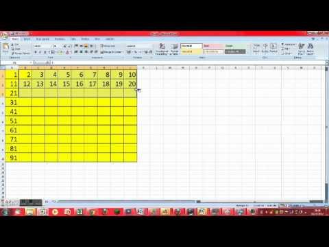 how-make-a-number-grid-on-excel