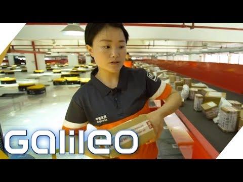 Lernen von den Besten! Paketdienste in China | Galileo | ProSieben