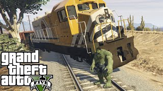 GTA 5 PC Mods - HULK Vs Train #2