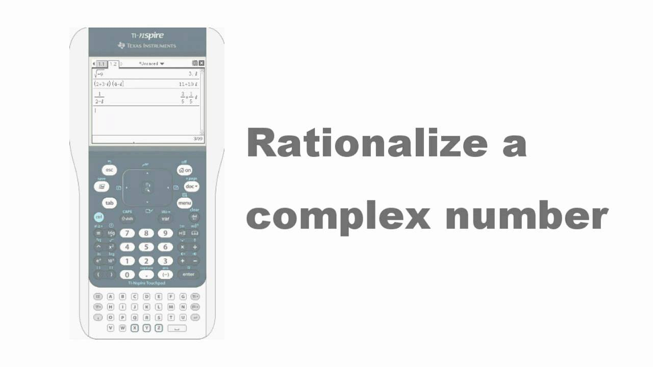 Nspire Calculator Imaginary Number - IMAGECROT