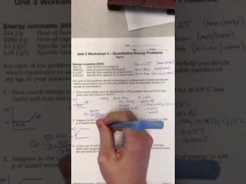 Quantitative energy problems with temperature and phase changes