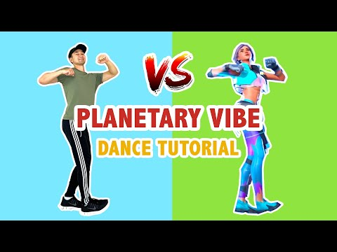 PLANETARY VIBE IN REAL LIFE (DANCE TUTORIAL) | FORTNITE DANCES