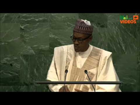 Buhari's speech at the UN General Assembly session