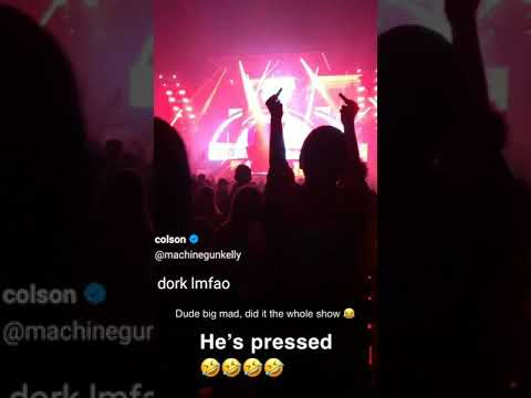 Upset Eminem Fan At MGK Show || His Friend Embarrassed By Him