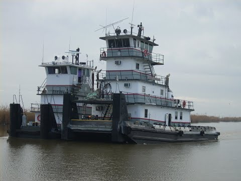 Tugs, barges and stuff on Bayou Lafourche Louisiana