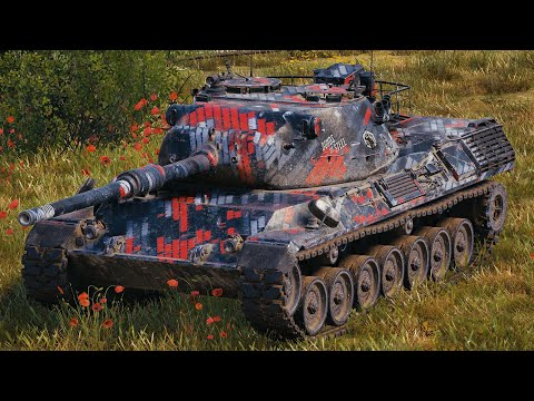 World of Tanks Leopard 1 - 9 Kills 10,7K Damage (1 VS 5)