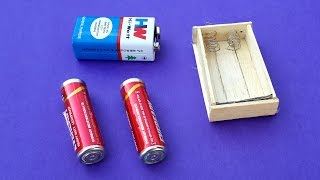 how to make a battery holder using popsicle sticks diy
