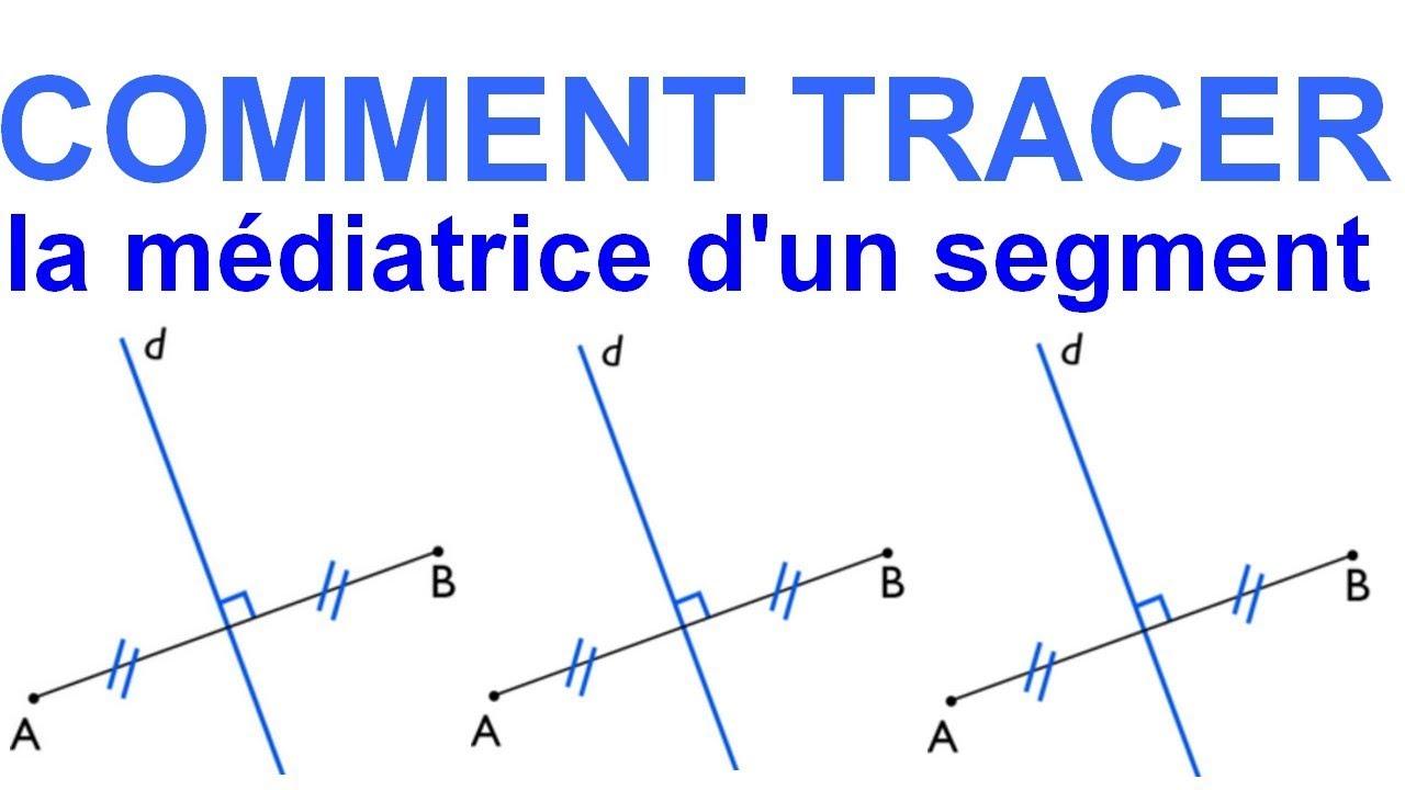 Maths 6ème - Les Bases De La Géométrie : La médiatrice d ...