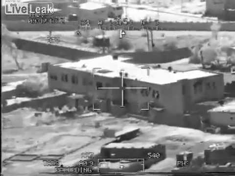 US Apache ( Crazy Horse ) Engaging Iraqi Snipers in Deserted Building