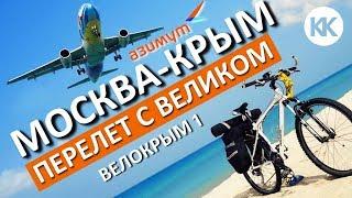 Смотреть видео Перелет Москва-Крым с велосипедом. Снежный коллапс в Москве онлайн