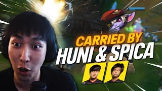 TSM FTX HUNI AND SPICA CARRYING MY GAMES | Doublelift