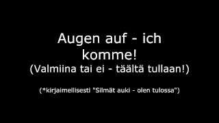 Oomph! - Augen Auf w/ German and Finnish lyrics