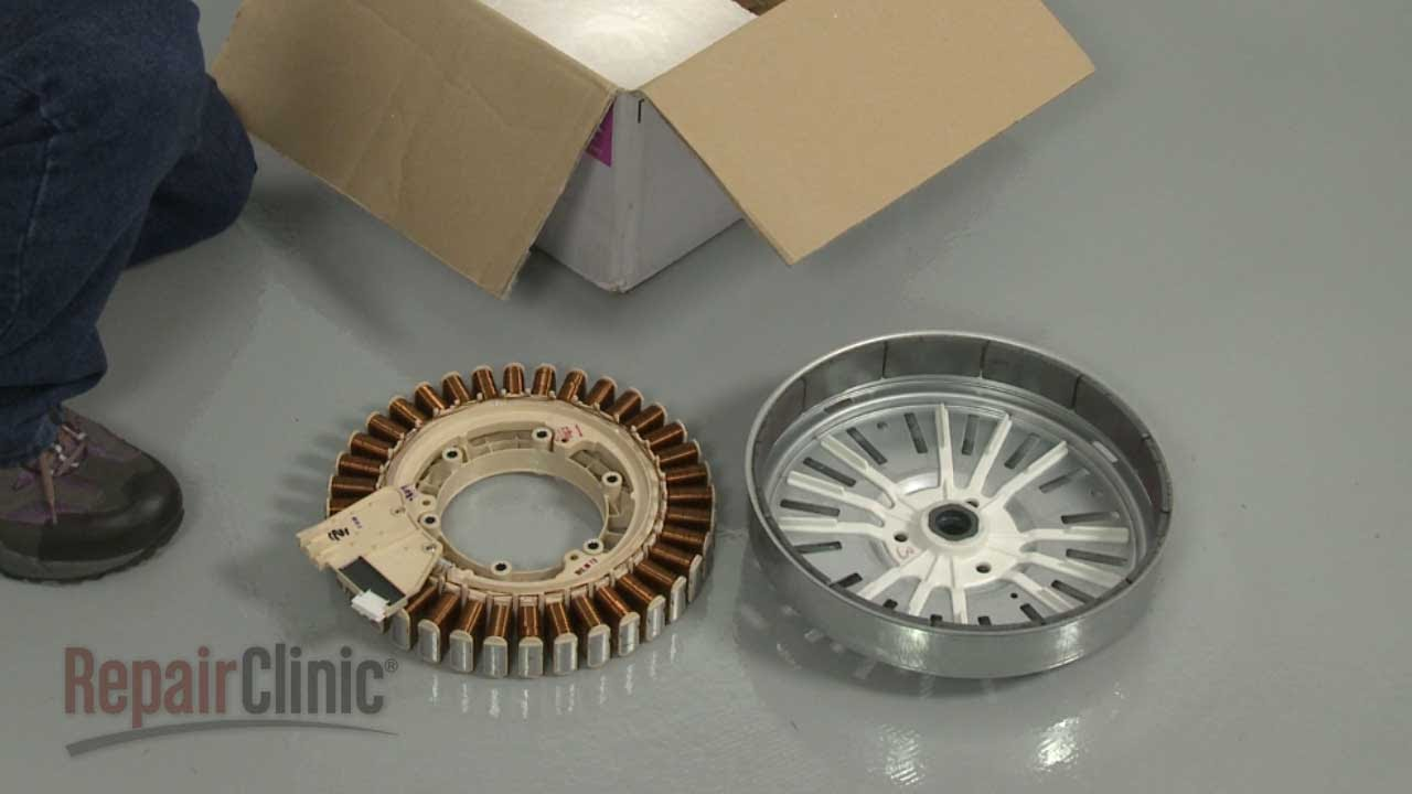 Samsung Front Load Washer Replace Rotor & Stator #DC93-00168B - YouTube