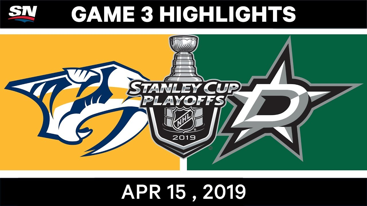 NHL Highlights | Predators vs Stars, Game 3 – April 15, 2019
