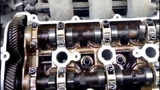 Разборка двигателя для замены МСК Mazda 626 GE V6 KL 2.5l