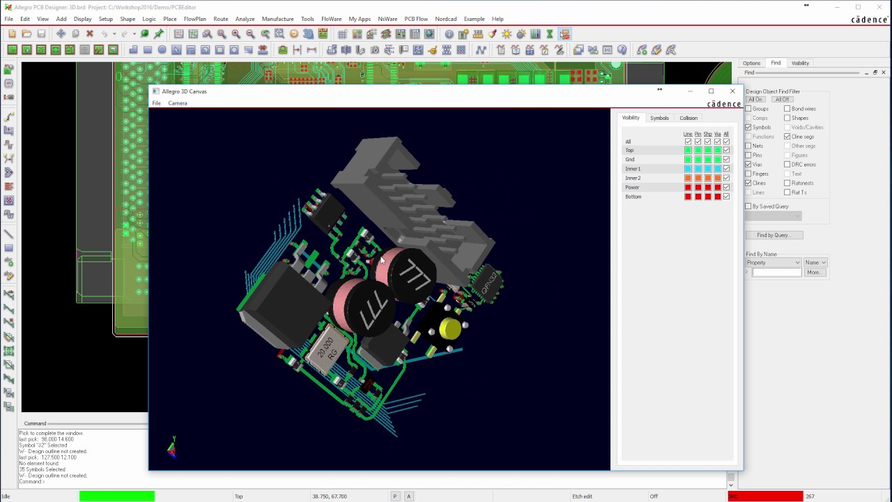 3D PCB med OrCAD / Allegro PCB Editor 17.2 - YouTube