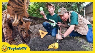 Park Ranger Aaron has a plan to escape from a giant Triceratops! On...