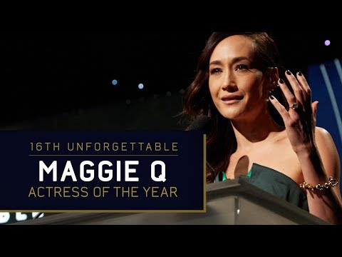 Maggie Q  Actress of the Year at the 16th Unforgettable Gala