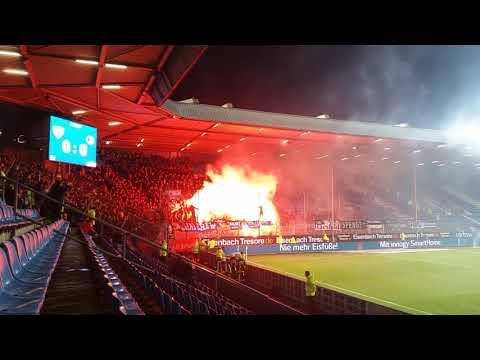VfL Bochum - Arminia Bielefeld 29.01.2018 Pyroaktion der Bielefelder zur 2. Halbzeit