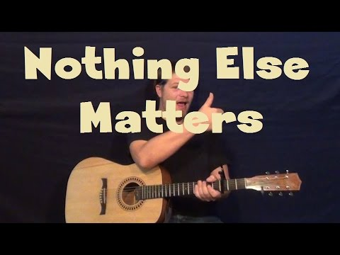 nothing else matters metallica easy strum fingerstyle guitar lesson how to play tutorial youtube. Black Bedroom Furniture Sets. Home Design Ideas