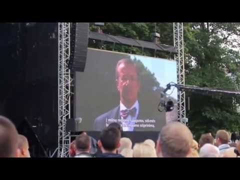 Estonian president Toomas Hendrik Ilves Speaking in Vilnius | Commemorating Baltic Way 25th