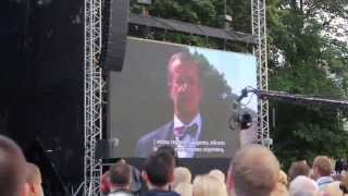 Estonian president Toomas Hendrik Ilves Speaking in Vilnius | Commemorating Baltic Way 25th