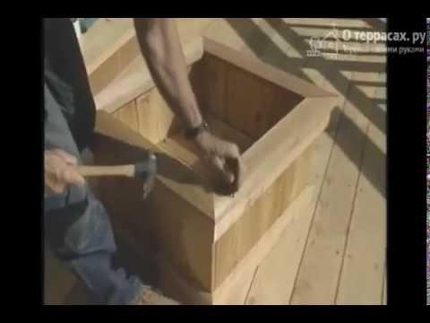 Из обрезков — кадка для растений на террасе