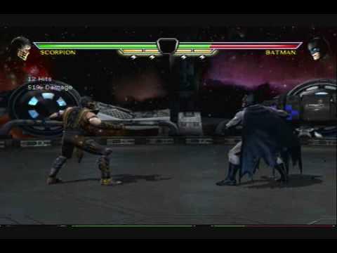 MK Vs. DC ---- Scorpion Kombo Tribute (UNIQUE Combos!)