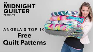 Top 10 FREE Quilt Patterns | The Midnight Quilter Presents