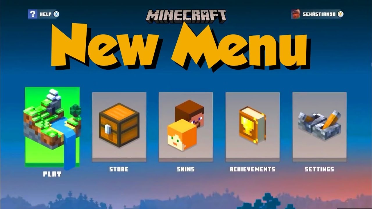 This Is Minecraft S New Menu For 2019 And It Looks Amazing Youtube