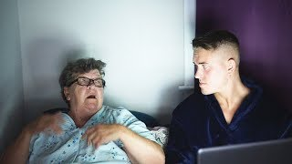 ANGRY GRANDMA HATES SCARY MOVIES!
