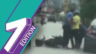 Road Rage |Man Detained ForSlappingWoman Driver In Viral Video