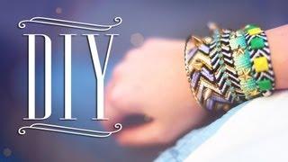 DIY Spiked Chevron Bracelets