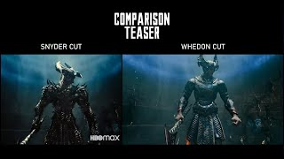 Comparison Teaser: Snyder Cut - Whedon Cut