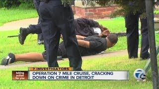 Operation 7 Mile Cruise, cracking down on crime in Detroit