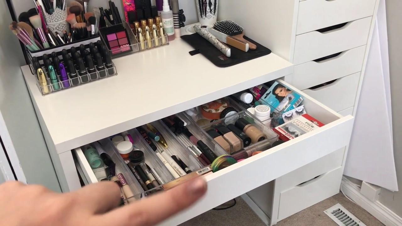 Micke makeup desk kitchen and living space interior u