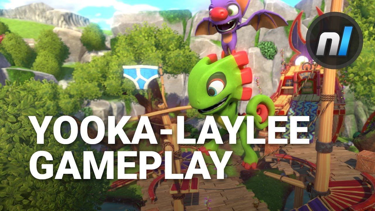 Yooka Laylee Retail Gameplay Footage Hands On Ps4 Youtube