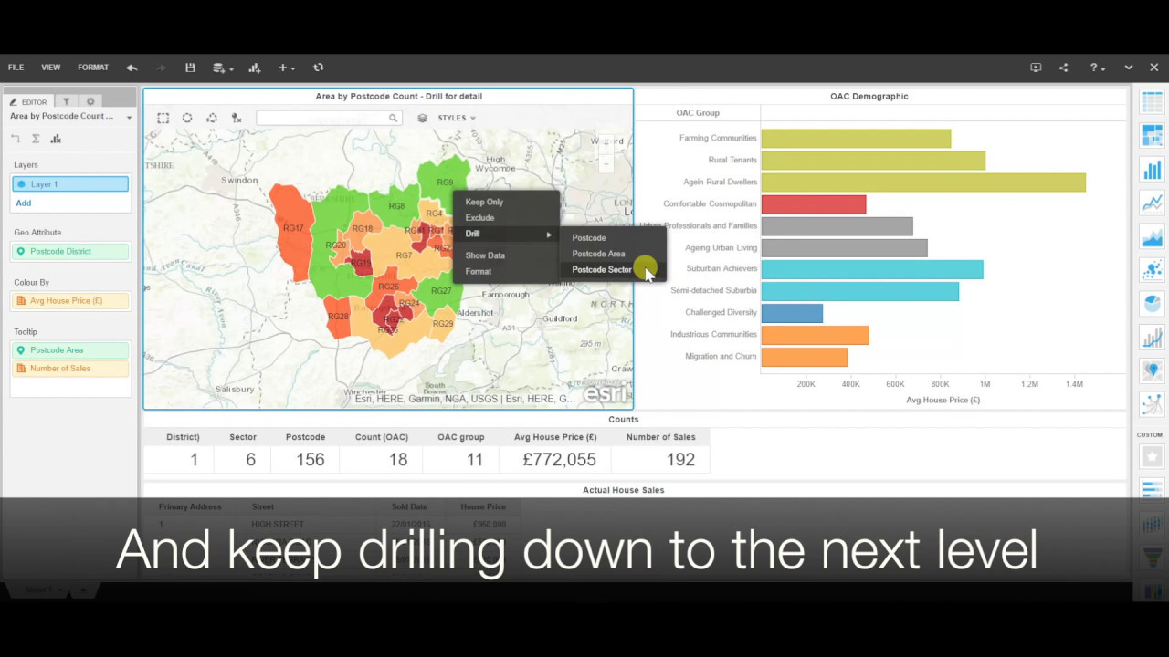 MicroStrategy Min Geo Analytics Drillable Maps YouTube - Microstrategy us county map
