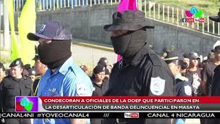 Condecoran oficiales de DOEP que participaron en desarticulación de banda delincuencial en Masaya